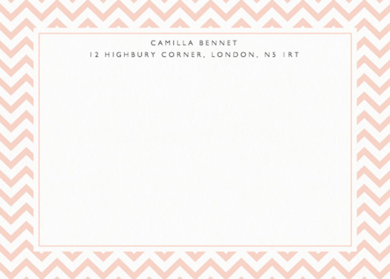 Peach Chevrons | Personalised Stationery Set