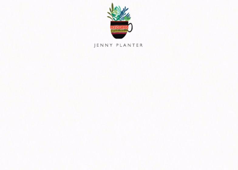 Botanical Copa | Personalised Stationery Set