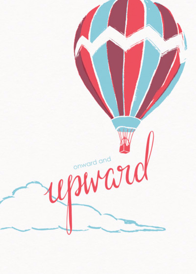 Onward And Upward | Personalised Good Luck Card