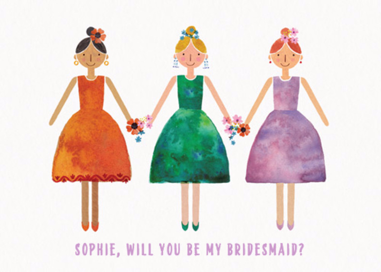 Will You Be My Bridesmaid? | Personalised Congratulations Card