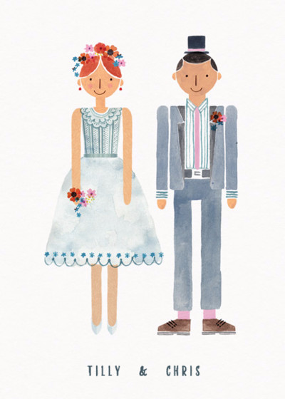 Wedding Couple  Mrs & Mr | Personalised Congratulations Card
