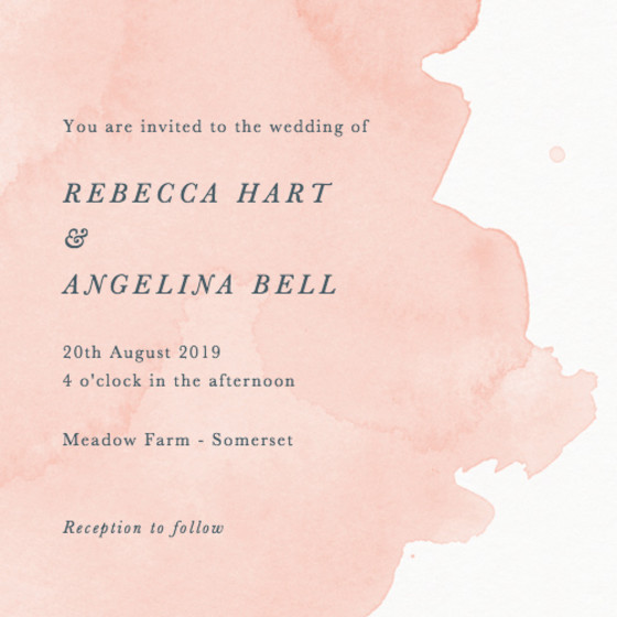 Blush Dusk | Personalised Wedding Invitation