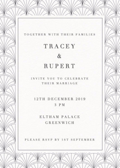 Art Deco | Personalised Wedding Invitation