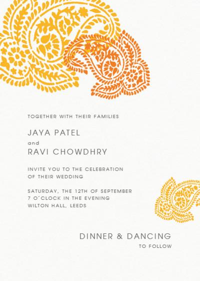 Paisley   Personalised Wedding Invitation