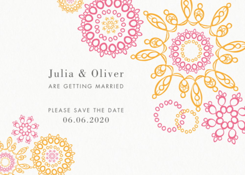 Jubilee   Personalised Save The Date