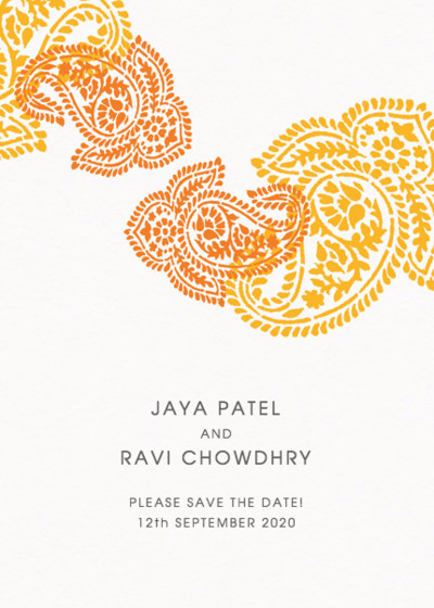 Paisley | Personalised Save The Date