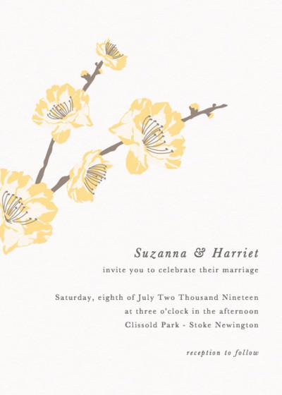Vintage Florals | Personalised Wedding Invitation