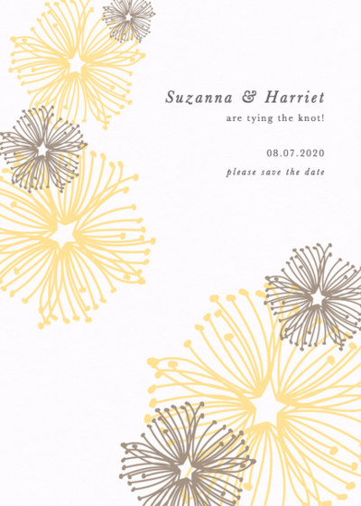 Vintage Florals   Personalised Save The Date