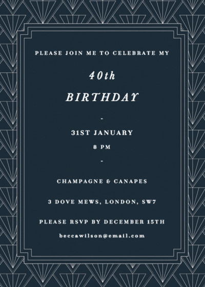 Gatsby | Personalised Party Invitation