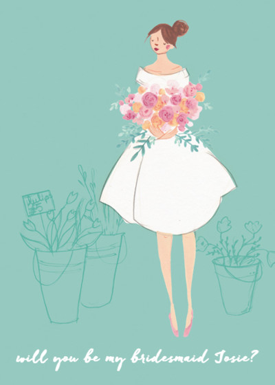 Bouquet Girl | Personalised Greeting Card