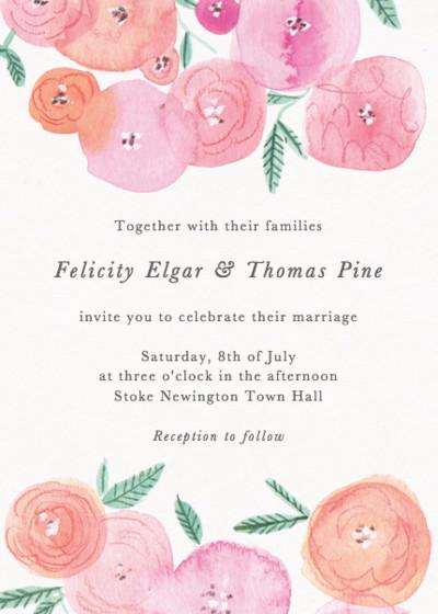 Spring Ranunculus | Personalised Wedding Invitation