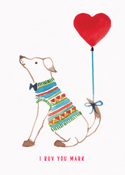 Hound Of Love | Personalised Greeting Card