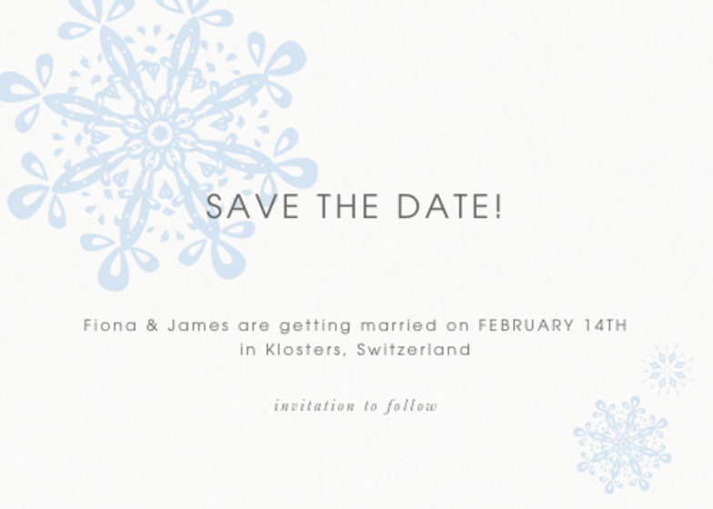 St. Moritz | Personalised Save The Date