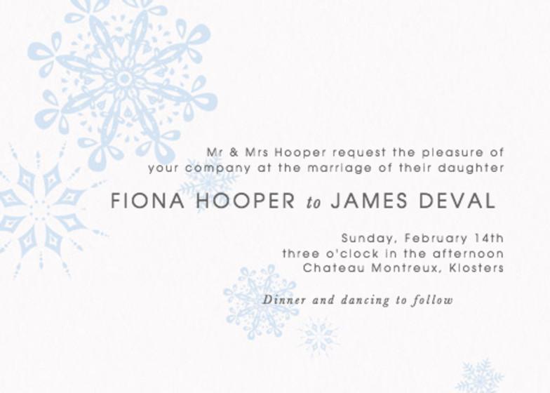 St. Moritz   Personalised Wedding Invitation