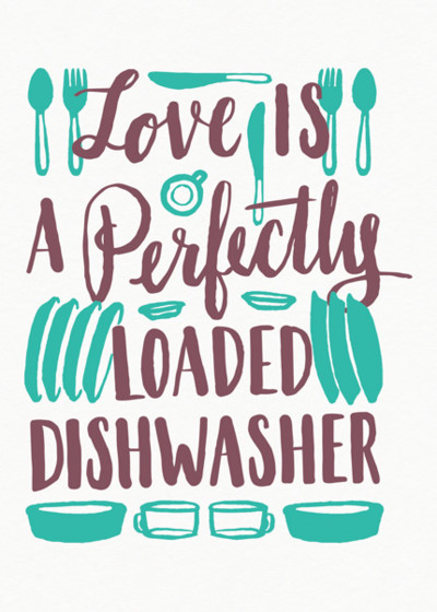 Perfectly Loaded Dishwasher | Personalised Greeting Card
