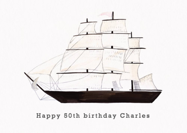 Clipper Ship | Personalised Birthday Card