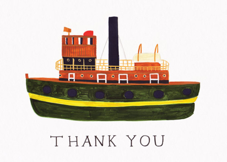 Tug Boat | Personalised Greeting Card