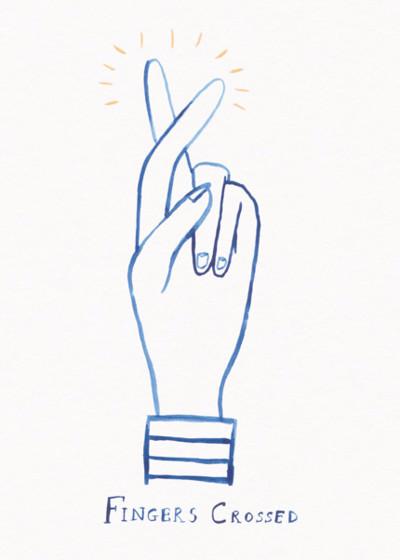 Fingers Crossed | Personalised Good Luck Card