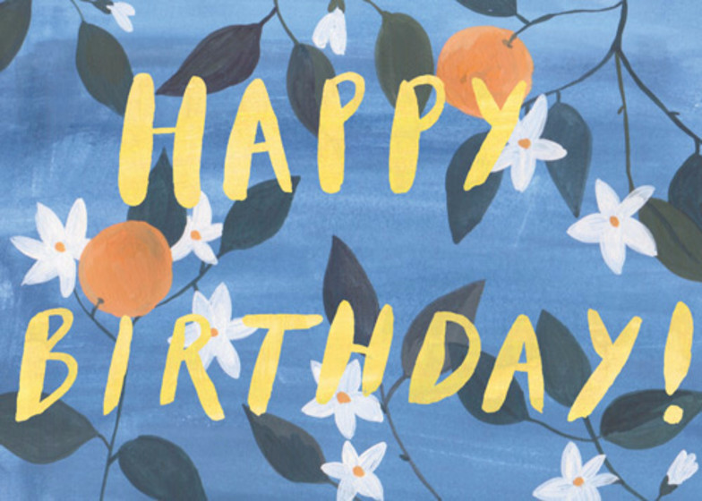 Orange Blossom | Personalised Birthday Card