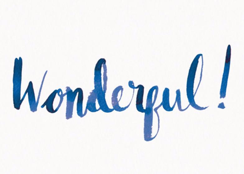 Wonderful! | Personalised Greeting Card