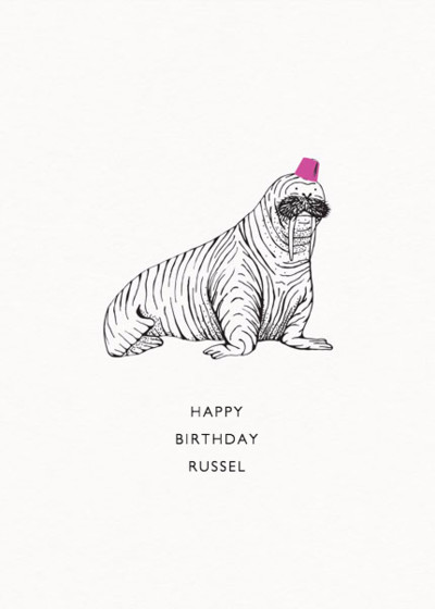 Walrus | Personalised Birthday Card