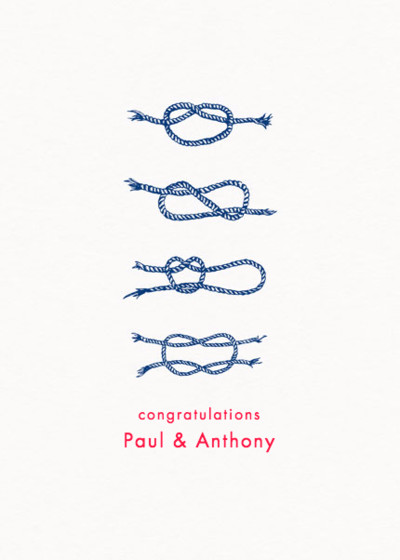 Tie The Knot | Personalised Congratulations Card