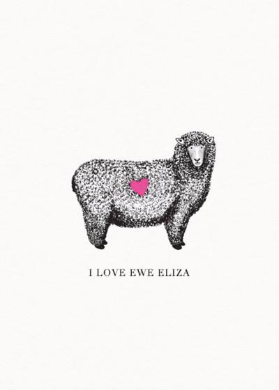 I Love Ewe | Personalised Greeting Card
