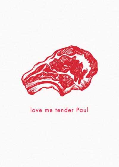 Love Me Tender | Personalised Greeting Card