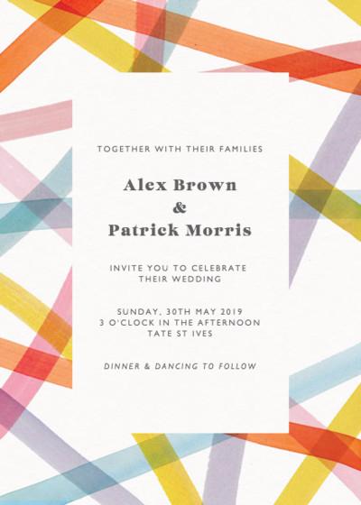 Streamers | Personalised Wedding Invitation