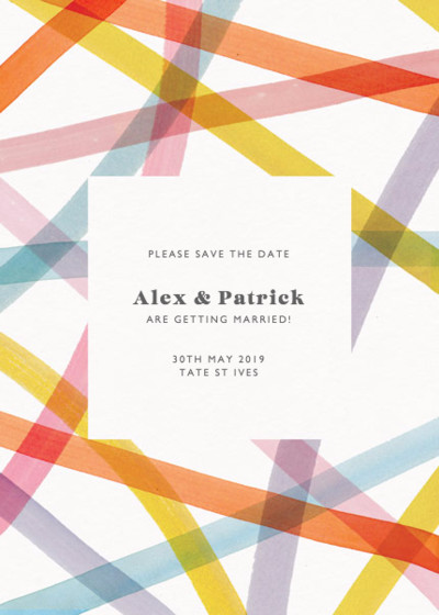 Streamers | Personalised Save The Date