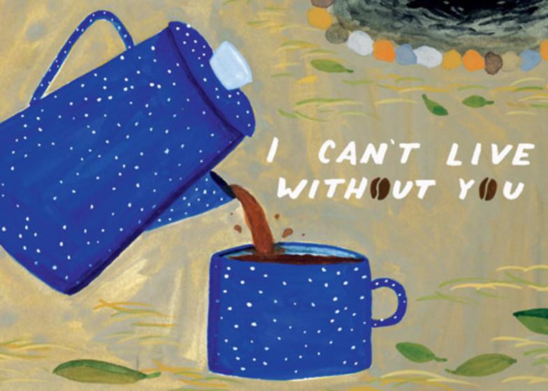 Coffee Love | Personalised Greeting Card