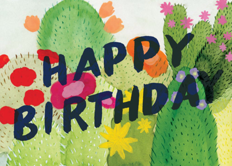 Blooming Cacti | Personalised Birthday Card