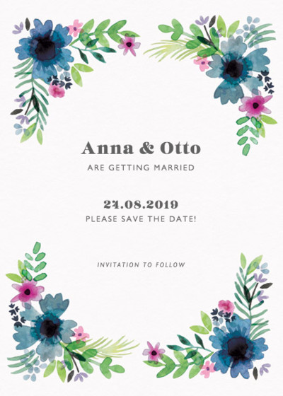 Midsummer | Personalised Save The Date
