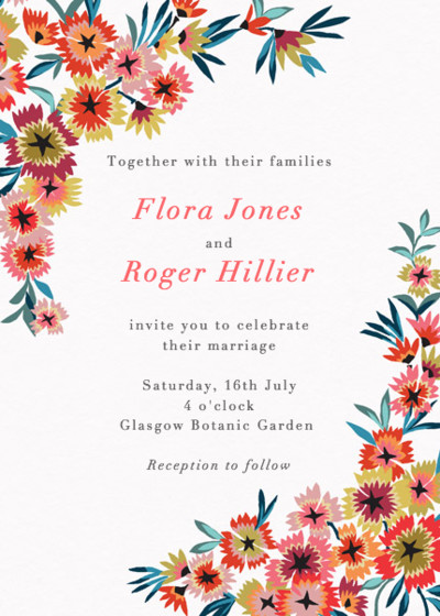 Star Flower | Personalised Wedding Invitation