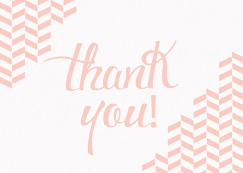 Freccia | Personalised Thank You Card Set