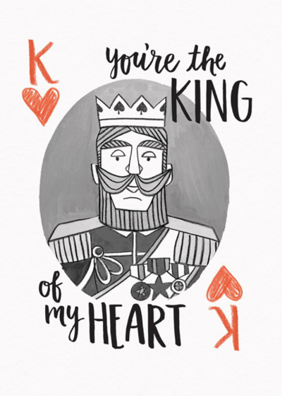 King Of My Heart | Personalised Greeting Card