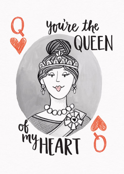 Queen Of My Heart | Personalised Greeting Card