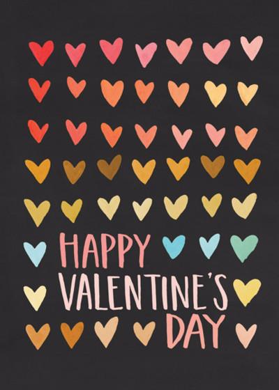 Valentine's Rainbow | Personalised Greeting Card
