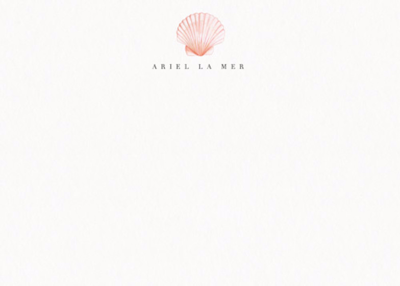 Scallop Shell | Personalised Stationery Set