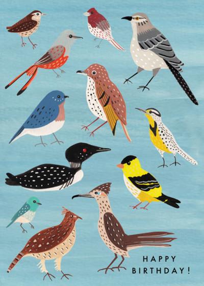 Birds | Personalised Birthday Card
