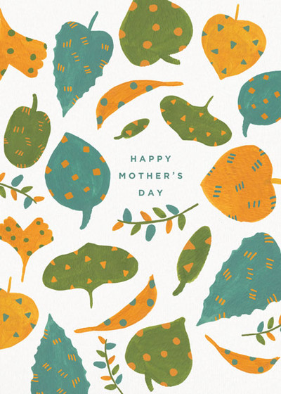 Leaves For Mum | Personalised Greeting Card