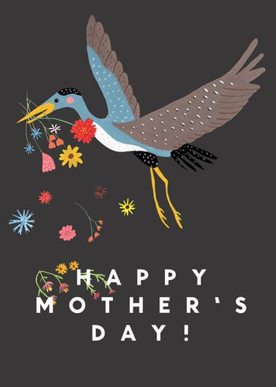 Heron | Personalised Greeting Card