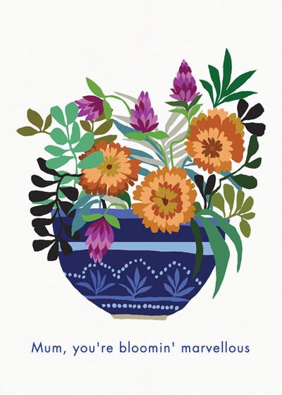 Marigolds   Personalised Greeting Card