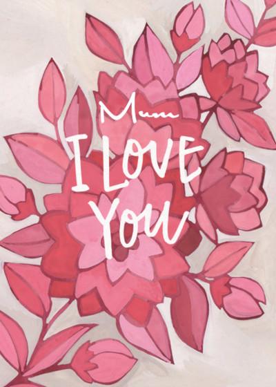Floral Love | Personalised Greeting Card