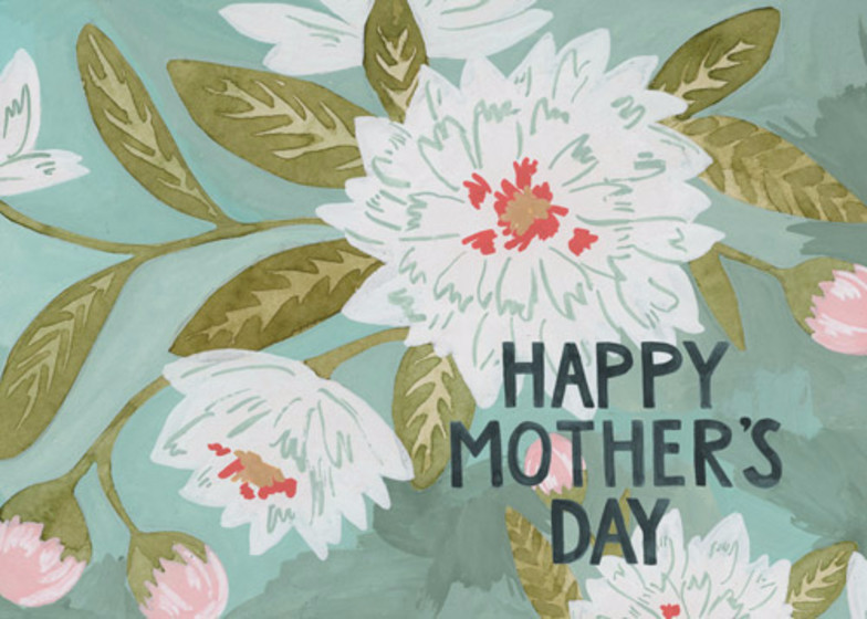 Mother's Day Bouquet | Personalised Greeting Card