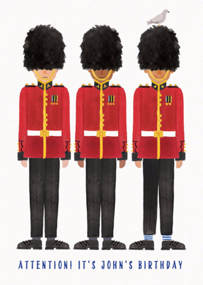 Queen's Guard | Personalised Birthday Card