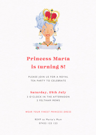Birthday Queen | Personalised Party Invitation