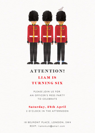 Queen's Guard | Personalised Party Invitation