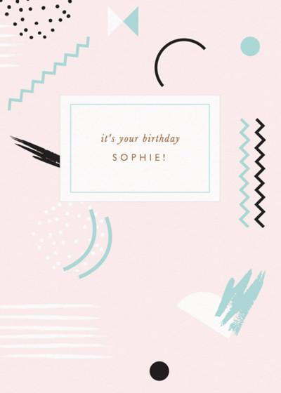 Miró | Personalised Birthday Card