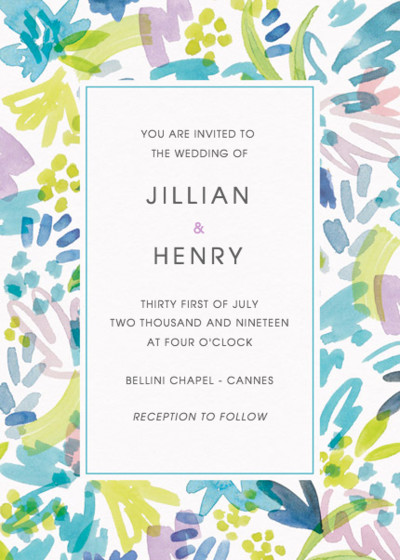 Cannes | Personalised Wedding Invitation